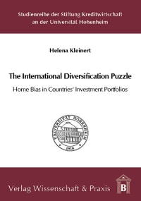 Cover The International Diversification Puzzle: Home Bias in Countries' Investment Portfolios