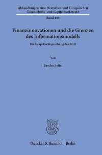 Cover Finanzinnovationen und die Grenzen des Informationsmodells