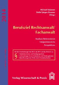 Cover Berufsziel Rechtsanwalt/Fachanwalt
