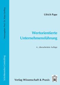 Cover Wertorientierte Unternehmensführung