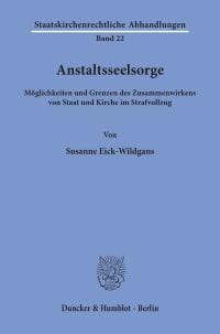Cover Anstaltsseelsorge