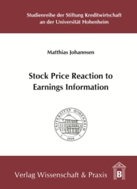 Cover Stock Price Reaction to Earnings Information