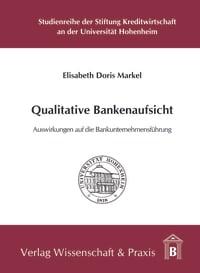 Cover Qualitative Bankenaufsicht