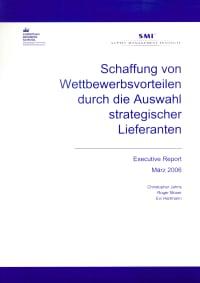 Cover Schaffung von Wettbewerbsvorteilen durch die Auswahl strategischer Lieferanten
