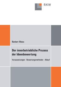 Cover Der innerbetriebliche Prozess der Ideenbewertung