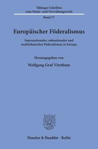 Cover Europäischer Föderalismus