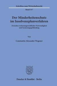 Cover Der Minderheitenschutz im Insolvenzplanverfahren
