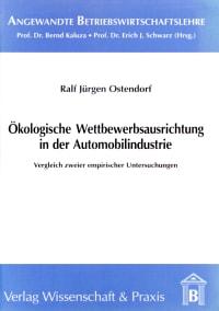 Cover Ökologische Wettbewerbsausrichtung in der Automobilindustrie