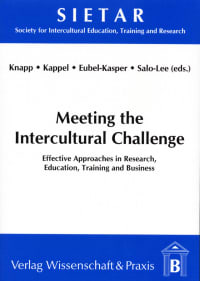 Cover Meeting the Intercultural Challenge