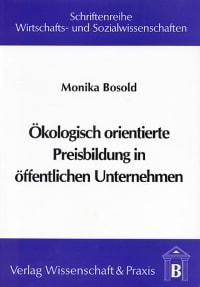 Cover Ökologisch orientierte Preisbildung in öffentlichen Unternehmen