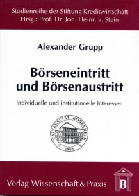 Cover Börseneintritt und Börsenaustritt