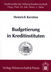 Cover Budgetierung in Kreditinstituten