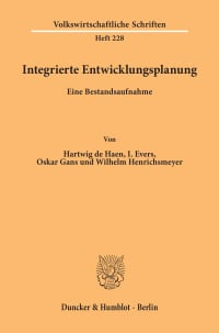 Cover Integrierte Entwicklungsplanung