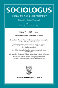 Cover Sociologus (SOC)