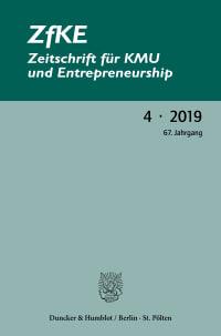 Cover ZfKE – Zeitschrift für KMU und Entrepreneurship (ZfKE)