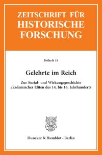 Cover Gelehrte im Reich