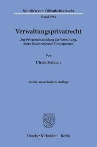 Cover Verwaltungsprivatrecht