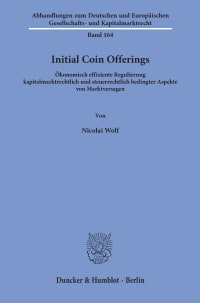 Cover Initial Coin Offerings