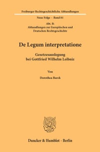 Cover De Legum interpretatione