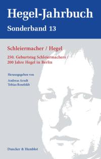 Cover Schleiermacher / Hegel