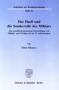 Cover Das Duell und die Sonderrolle des Militärs