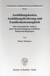 Cover Ausbildungskosten, Ausbildungsförderung und Familienlastenausgleich