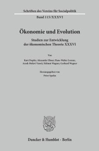 Cover Ökonomie und Evolution