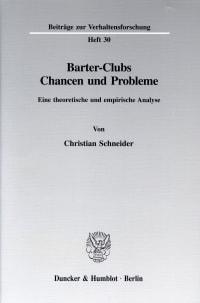 Cover Barter-Clubs - Chancen und Probleme
