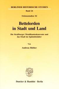 Cover Bettelorden in Stadt und Land