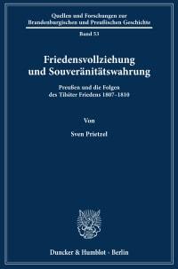 Cover Friedensvollziehung und Souveränitätswahrung