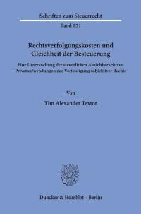 Cover Rechtsverfolgungskosten und Gleichheit der Besteuerung