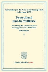 Cover Deutschland und die Weltkrise