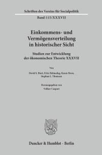 Cover Einkommens- und Vermögensverteilung in historischer Sicht