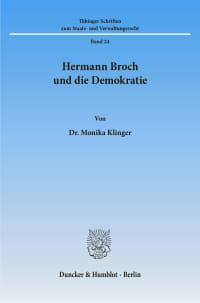 Cover Hermann Broch und die Demokratie