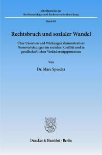 Cover Rechtsbruch und sozialer Wandel