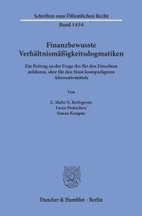 Cover Finanzbewusste Verhältnismäßigkeitsdogmatiken