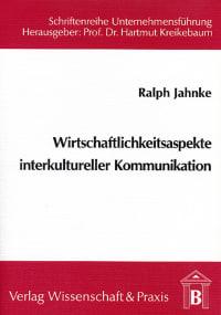 Cover Wirtschaftlichkeitsaspekte interkultureller Kommunikation