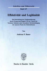 Cover Effektivität und Legitimität