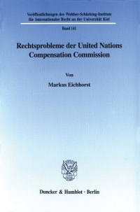 Cover Rechtsprobleme der United Nations Compensation Commission