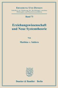 Cover Erziehungswissenschaft und Neue Systemtheorie