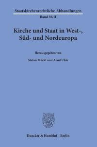 Cover Kirche und Staat in West-, Süd- und Nordeuropa