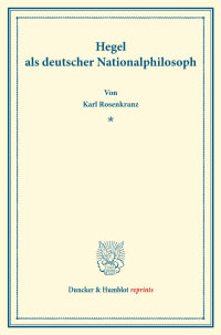 Cover Hegel als deutscher Nationalphilosoph