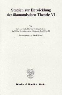 Cover Deutsche Nationalökonomie im 19. Jahrhundert