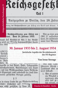 Cover 30. Januar 1933 bis 2. August 1934