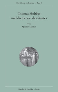 Cover Thomas Hobbes und die Person des Staates