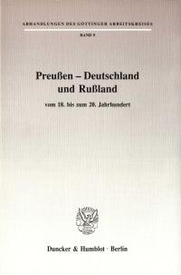 Cover Preußen - Deutschland und Rußland