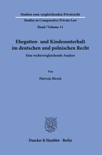 Cover Ehegatten- und Kindesunterhalt im deutschen und polnischen Recht
