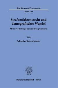 Cover Strafverfahrensrecht und demografischer Wandel