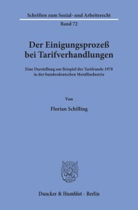 Cover Der Einigungsprozeß bei Tarifverhandlungen