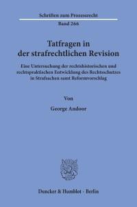 Cover Tatfragen in der strafrechtlichen Revision